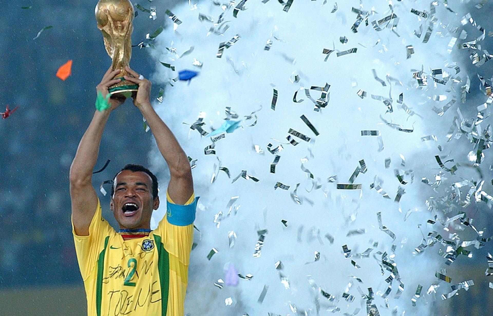 Cafu lifts trophy