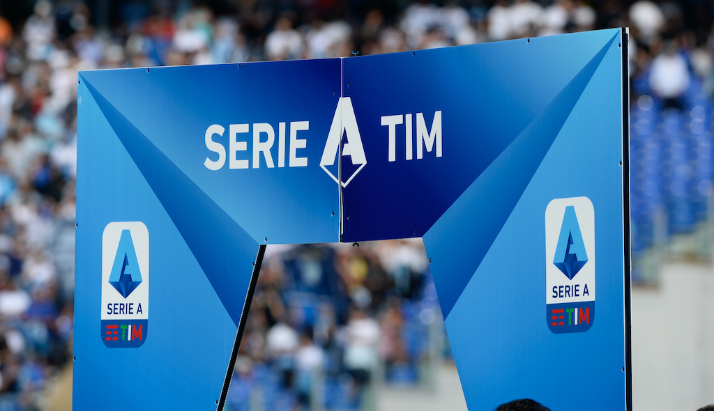 Italy: SS Lazio vs CFC Genoa - Serie A, Official Logo Serie A before the Italian Serie A football match between SS Lazio